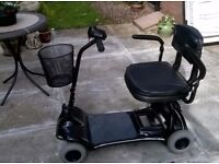 Disability Scooter, compact,portable fits in car