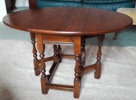 Elm drop leaf coffee / occasional side table