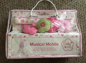 Lovely baby bunny musical mobile