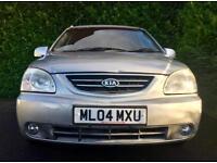 48000 MILES 10 MONTHS MOT MPV 2004 KIA CARENS LE 1.8 PETROL 125 BHP FULL SVCE HISTORY 6 MONTHS WA