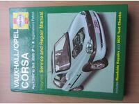 Haynes manual Vauxhall opel corsa 97 to 00