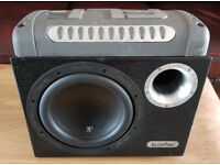 CAR ACTIVE SUBWOOFER INPHASE 1200 WATT 10 INCH PORTED ENCLOSURE WITH AMPLIFIER AMP