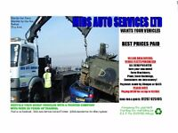 Sell your Scrap Cars/Vans/Trucks & Machinery - BEST PRICES PAID!