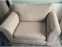 FREE beige NEXT snuggle chair/2 seater sofa