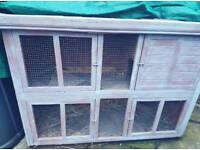 5 1/2 ft double tiered hutch rabbit guinea pig ferret