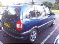 7 seats Vauxhall Zafira 1.6 - 9 mouths MOT