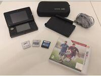 Nintendo 3DS Handheld Console (Black) + Games & Accessories
