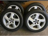 """16"""" volvo alloy wheels and winter tyres fit ford connect jaguar"""