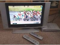 """17"""" Slim TV lcd i think LG with Freeview Box."""