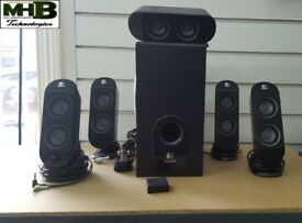 Logitech X-530 Surround Sound System 5.1 (TV, PC and for Consoles)