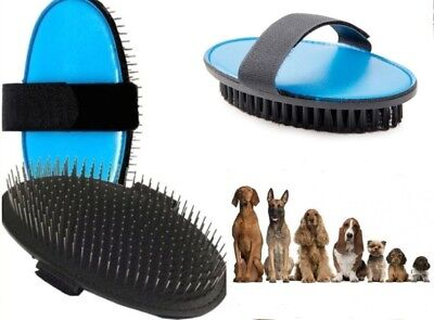Ancol Ergo Flexible Palm Pin Pad - Bristle Palm Pad Grooming Dog Brush ()