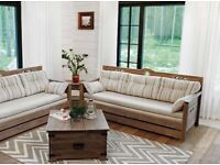"""""""Harold"""" Solid Wood 3-seater sofa bed"""