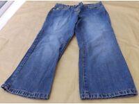 Next Ladies Blue 3/4 Length Jeans Size 8