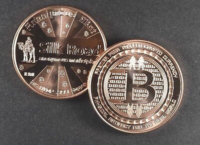 1 Oz Copper Coins Bitcoin  Silk Road 2Nd In Series  Anonymous Mint Copper 20 100