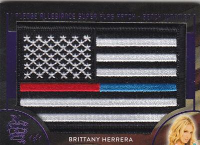 2018 BENCHWARMER HOT FOR TEACHER BRITTANY HERRERA SUPER FLAG PATCH CARD /1 1/1
