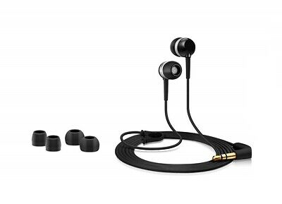 Universal Cascos Intrauriculares con Cable 3.5mm Audio Jack MP3 Música - Negro