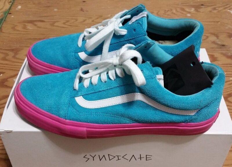 197dab0d127c VANS X Golf Wang X Syndicate Old Skool Blue Pink Size 10.5 supreme odd  future фото