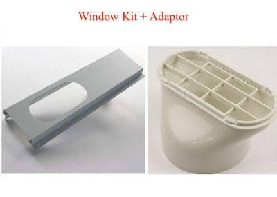 Exhaust Hose / Tube Connector for Portable Air Conditioner Window Kit + Adaptor