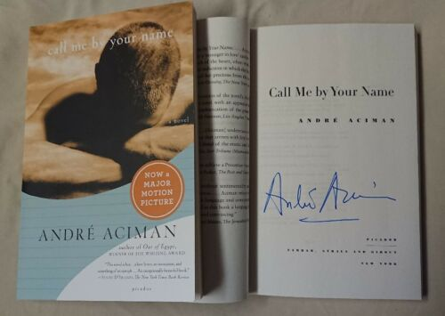 Signed Book André Aciman Call Me by Your Name Paperback Movie Andre CMBYN Novel