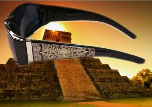 Custom Aztec Son God Sunglasses locs Chicano Chicana Lowride