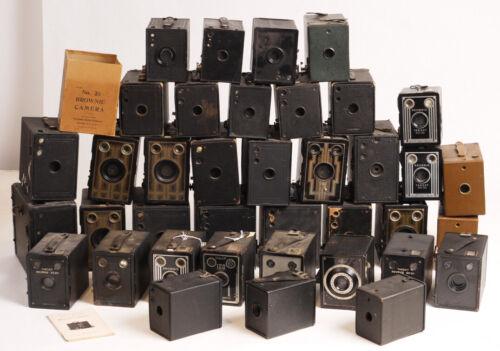 Huge Box Camera Collection (38!) - Kodak/Agfa/Seneca & Others - Some Art Deco