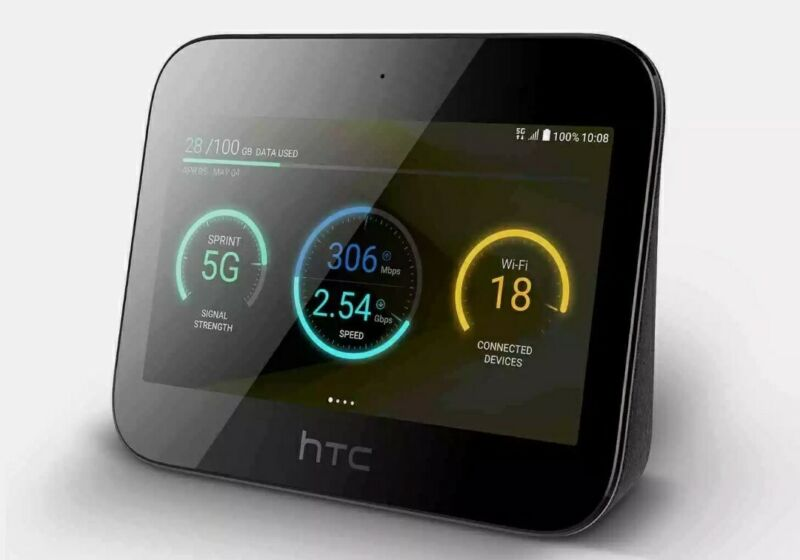 HTC Hub 5G 2.63Gbps Network Sharer VR Game LTE Router Mobile Hotspot