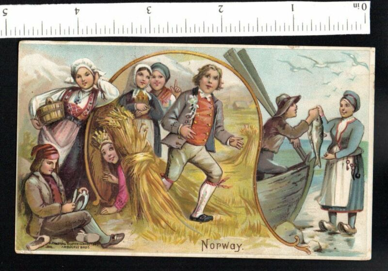 NORWAY ARBUCKLE COFFEE SPORTS PASTIME #15 1880