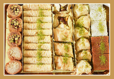 New Baklava - Mixed-Half tray Made by Professional Chef in USA - FREE Shipping