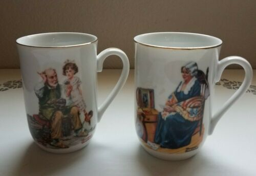 Norman Rockwell The Cobbler and Memories Mugs