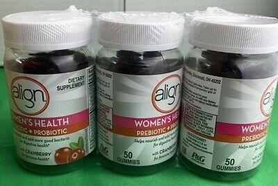 3 PK ALIGN Women's Health Prebiotic Probiotic  50 Count ea, 150 TOTAL EXP02/2022