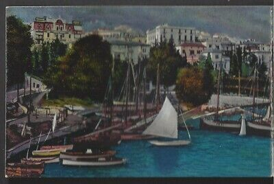 OPATIJA, ABBAZIA, CROATIA, 3 PART PC, TOWN & HARBOR OVERVIEW, BOATS used 1912