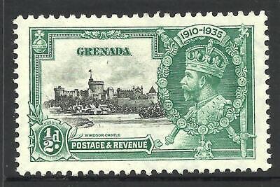 GRENADA 1935 KGV Jubilee 1/2d *KITE & VERTICAL LOG VARIETY* MNG SG 145k (CV £85) for sale  Shipping to Canada