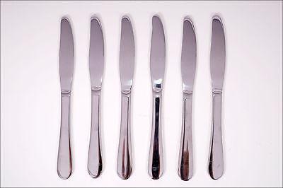 Tafelmesser 6 Stück Edelstahl - 76g pro Messer - Besteck Messerset Menümesser