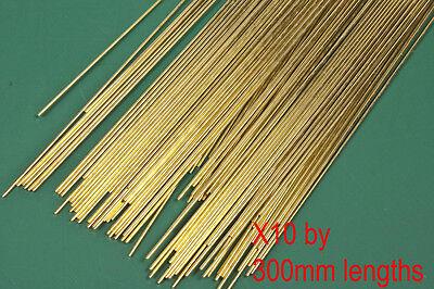 10 (ten) pack of 0.7mm diameter brass modellers wire. 300mm long