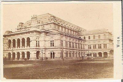 CDV photo Historische Gebäudeansicht - Wien 1870er