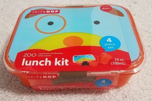 Skip Hop Zoo 4 Piece Lunch Kit - Dog