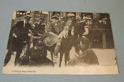 rty Dog Pony Atlantic City New Jersey RPPC Photo Postcard (Party City Dog)