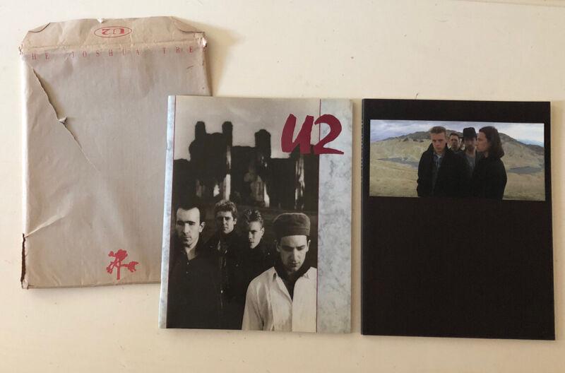 U2 Concert Tour Books - (2) The Unforgettable Fire & The Joshua Tree