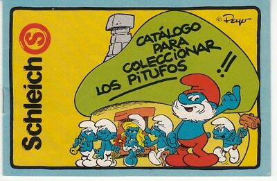 Schlumpf Sammelheft Mini - Katalog SCHLEICH 1985 SPANIEN los Catalogo pitufos gebraucht kaufen  Aalen