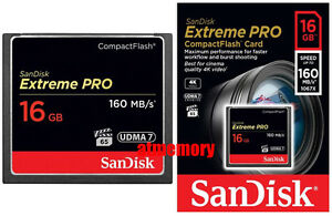 Sandisk Extreme Pro 16GB 16G Compact Flash Card CF 160MB/s 1067x UDMA7 in Sydney