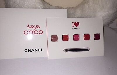 CHANEL Rouge Coco 5 Shade Lip Sample Palette Lot of 3