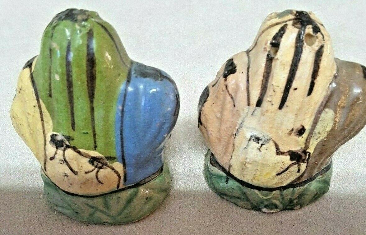 Vintage Cactus Salt Pepper Shakers Mexico Numbered - $4.15
