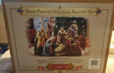 Grandeur Noel Collector Edition 9 Piece Hand-Painted Porcelain Nativity Set 2002