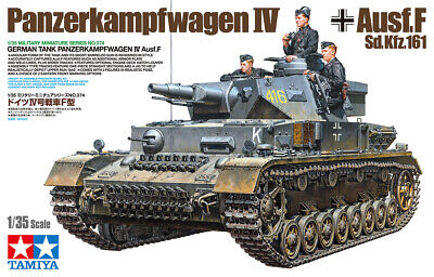 Tamiya 35374 Panzer Dt. Pz.Kpfw IV Ausf.F L24/75mm Model Kit Bausatz 1:35