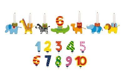GEBURTSTAGS-TIERPARADE Geburtstagskarawane Geburtstagszug mit Zahlen 1-10 Holz