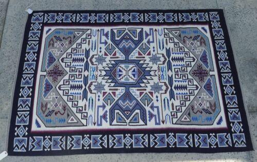 """Navajo Rug; Teec Nos Pos; c. 2000  90"""" x 62"""" by Sarah George"""