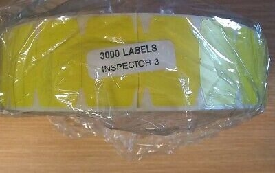 3000 Roll Yellow Labels Stickers Price Tags