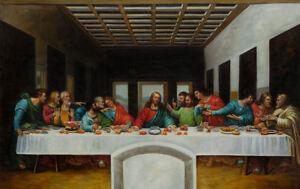 The Last Supper by Leonardo Da Vinci Framed Print (Picture Replica Painting Art)