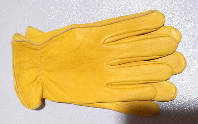 Luxury Deer Skin leather Gloves Natural Unlined Men's BC Grade slight scratches
