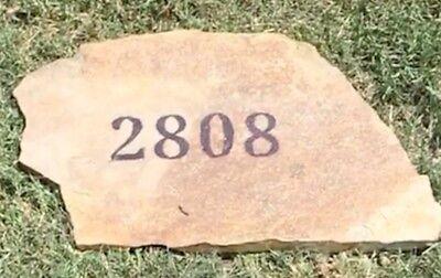 Stone Address Markers (Engraved  Address Stone)